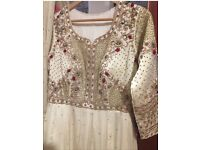 Pakistani/ indian wedding dress/gown suit party wear /mongas