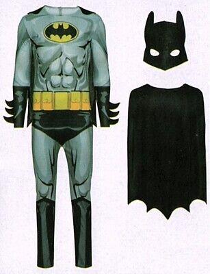 Batman Kostüm Fledermaus grau Gr. M (48/50) 3-tlg. Fasching Karneval Verkleidet  ()