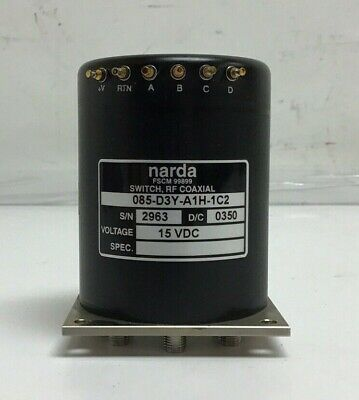 Narda 085-d3y-a1h-1c2 Rf Coaxial Switch Dc-18 Ghz 1 In 8 Out 15vdc