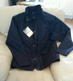 Mens Regatta quilted navy jacket (size large)