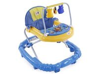 Musical baby walker with 360 degree turning wheels