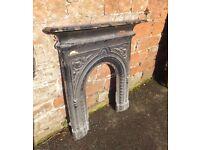 Cast Iron Fire Surround Vintage