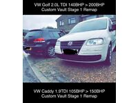 Mercedes VW Golf GTI GTD R Audi S3 A3 RS3 BMW Custom Remapping Mobile Van/Car Remaps Carbon Cleaning