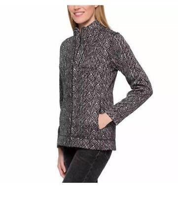 Andrew Marc Womens Jacket - Andrew Marc New York Womens Sweater-Knit Full Zip Jacket Brushed Fleece  - XS/S