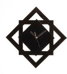 Wall Clock Star Design - Black