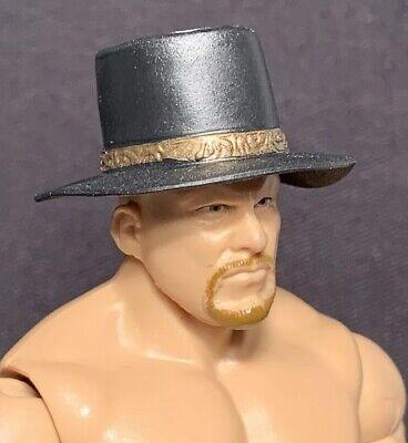 WWE Black Top Hat Farmers Hat Accessory Mattel Elite Figure Prop Headwear 1:12](Top Hat Prop)