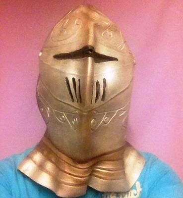A ADULT HALLOWEEN COSTUME KNIGHT IN SHINING ARMOUR MASK SILVER - Knight In Shining Armor Halloween Costume