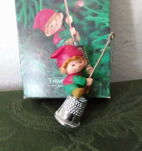 Hallmark Thimble Elf 1980 Ornament with Box