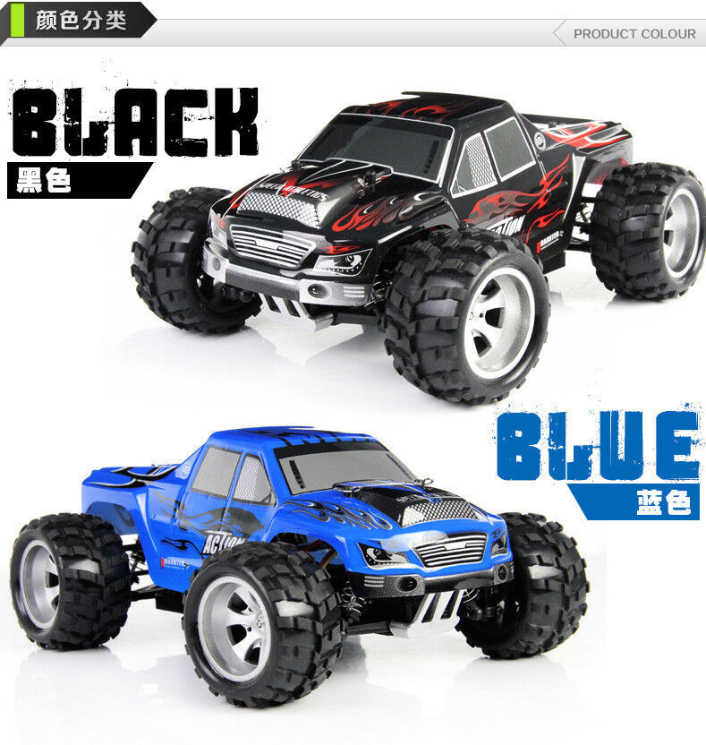 WLtoys A979 4WD RC Racing High Speed Monster Truck 50Km/H (BLACK/BLUE)