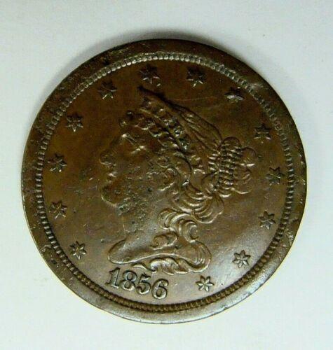 1856  BRAIDED HAIR HALF CENT NICE TYPE COIN
