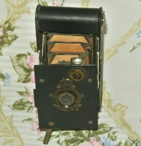 Vintage  Kodak 1913 A-127 Autographic Film Vest Pocket Camera Yellow Bellows