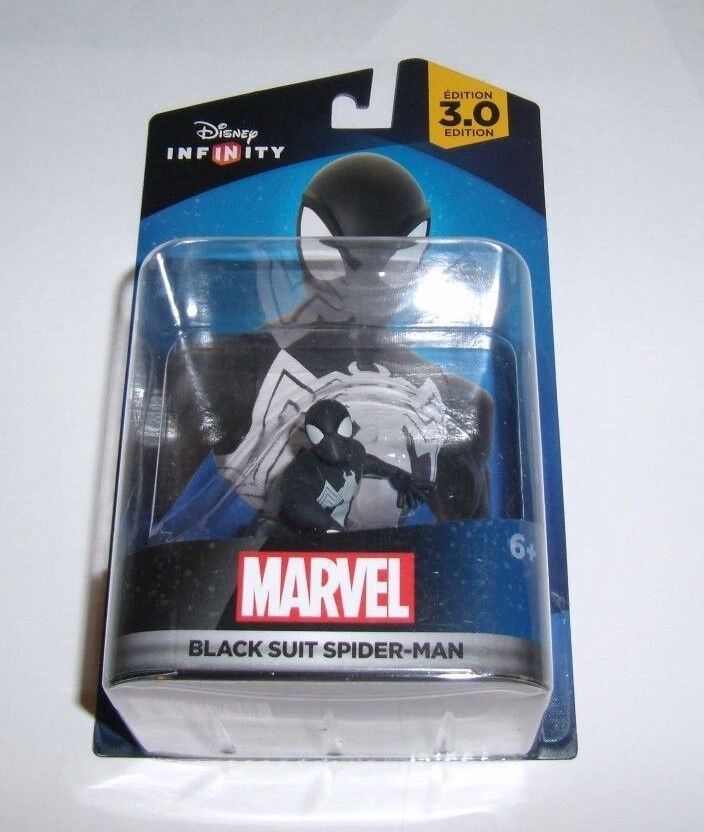 DISNEY INFINITY 2.0 3.0 Marvel Spider-Man Character Figure Black Suit Spiderman