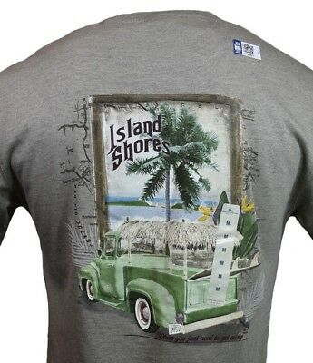Surf Mens T Shirt  Island Shores  Pacific Coast Highway Cruising Bahama Pch