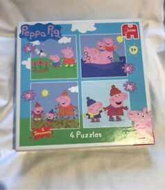 4 Peppa pig puzzles