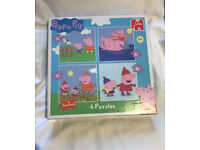 4 Peppa pig puzzles