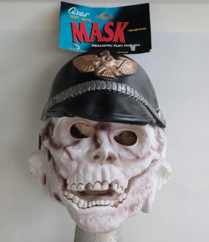 1990 DEATH GUARD Skull Zombie Cesar Halloween Mask  Helmet  Skeleton NOS w/Tag