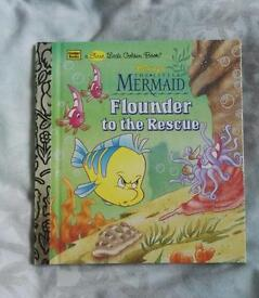 DISNEY'S LITTLE MERMAID FLOUNDER TO THE RESCUE SMALL HARD COVER BOOK