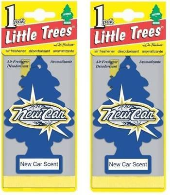 (8x Little Trees New Car Scent - Fresh Smelling Car SUV & Home Air Freshner )