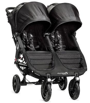Baby Jogger City Mini GT Double Twin All Terrain Stroller Black NEW