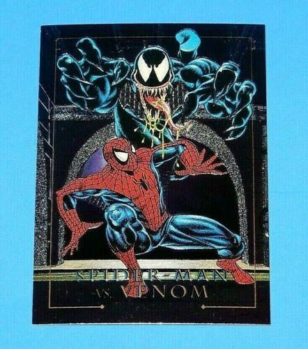 1992 Marvel Masterpieces Spider Man vs Venom Foil Card