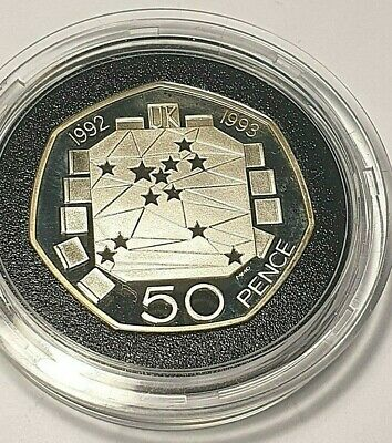 1992 1993 Uncirculated EEC EC Presidency Rare 50P Coin Dual Date
