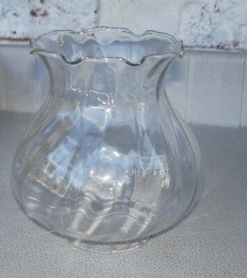 "VINTAGE GLASS CHIMNEY-SHADE-GLOBE FOR OIL LAMP 5"" HEIGHT 2 1/4"" OD BOTTOM"