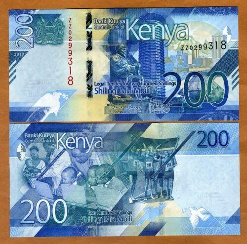 Kenya, 200 shillings, 2019, P-New, ZZ-Prefix, UNC > New Design, REPLACEMENT