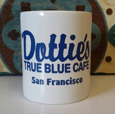 "San Francisco DOTTIE'S TRUE BLUE CAFE Coffee/Tea Mug - 8 oz. - 3 1/4"" Diameter"