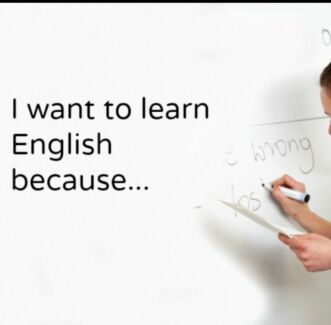 Wanted: I want learn English