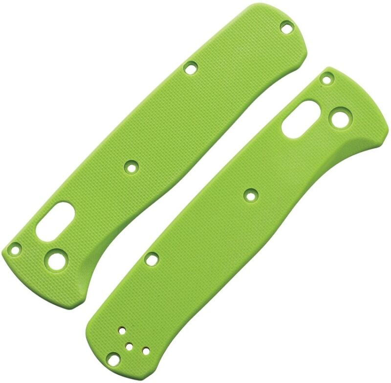 Flytanium Bugout Handle Scales Lime Green G10 Body Peel-Ply Finish FLY727