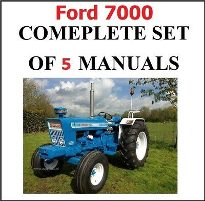 4 Ford 7000 Service Manual Tractors Service Parts Owners Manual 1965-1975 Cd
