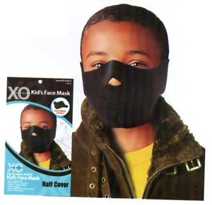 CHILDRENS-YOUTH-KIDS-FACE-SKI-WINTER-BALACLAVA-MASK-snow-half-cover-black-A62