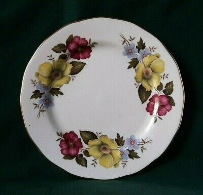 GAINSBOROUGH SIDE PLATE BONE CHINA BREAD AND BUTTER PLATE PINK & YELLOW FLOWERS for sale  Shipping to Ireland