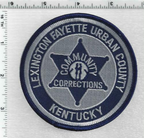 Lexington Fayette Urban County Community Corrections (Kentucky) 1st Issue Patch