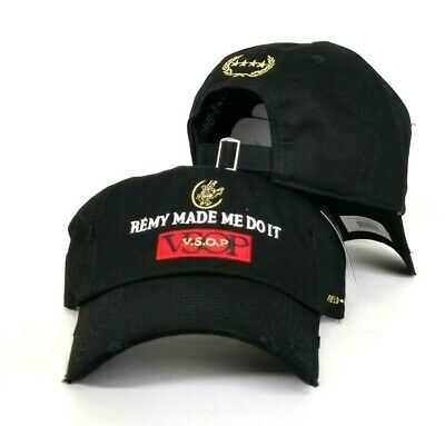 Remy Made Me Do It By Field Grade Black Distressed DAD Hat Snapback Strapback](Grad Hat)