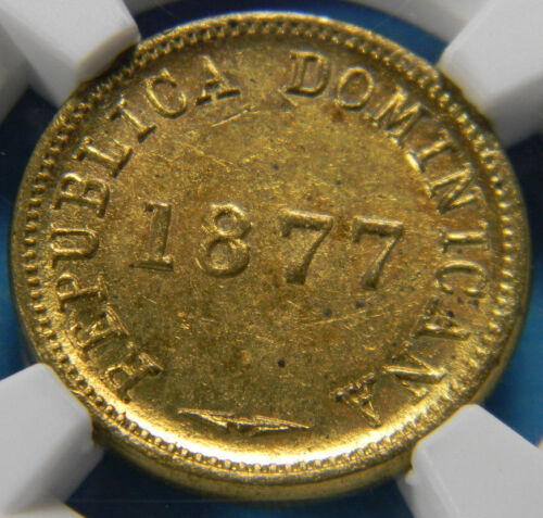 Dominican Republic 1877 1 Centavo NGC MS 62 KM# 3