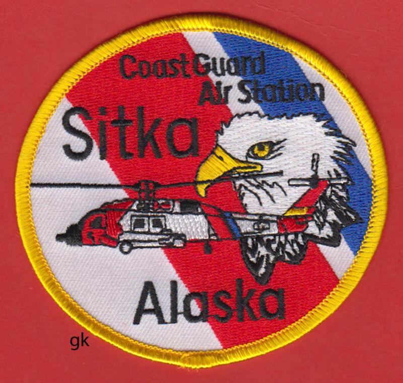 US COAST GUARD AIR STATION SITKA ALASKA SHOULDER PATCH Helicopter