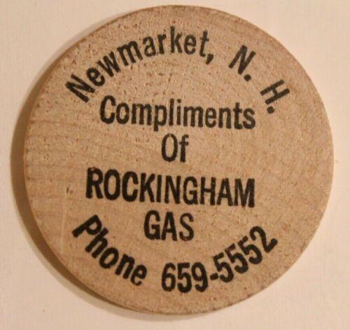 Vintage Rockingham Gas Wooden Nickel New Market New Hampshire