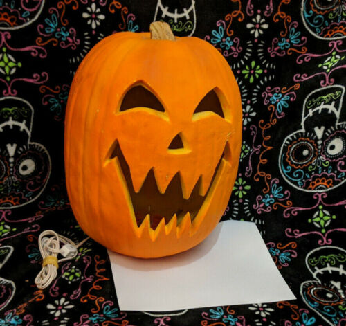 "1993 Trendmasters Halloween Foam Blow Mold Pumpkin Jack O Lantern Large 15"""