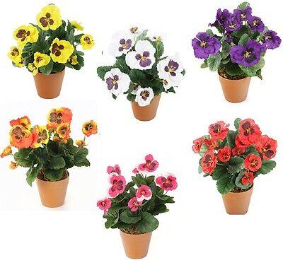 Artificial Plant Flowers Garden Realistic Plants Leaves Fake Outdoor Decor 30cm