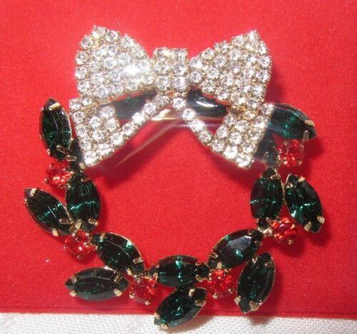 ☘☘☘ Elegant Multi Color Crystal Christmas Wreath Dillard