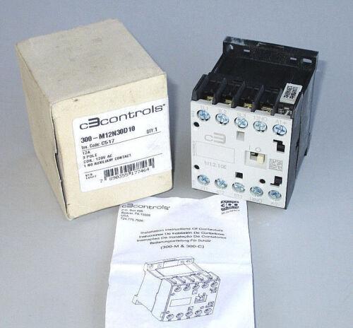 C3 Controls Mini Contactor IEC 120V Coil 12 FLA 3 Pole 22 Amp Res. 300-M12N30D10