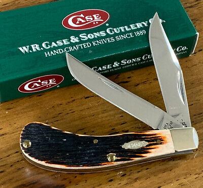 2006 Case XX Tony Bose TB62110 SS Saddlehorn Knife Carmel Barnboard Bone Handles