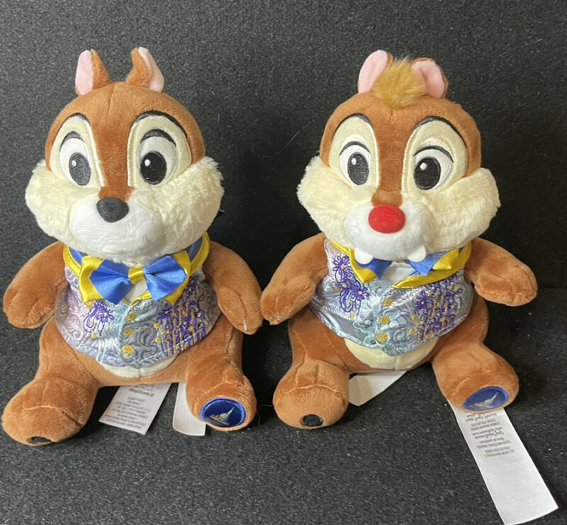 Disney 50th Anniversary Chip And Dale Plush New In Hand