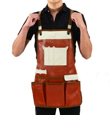 Leather Welding Apron Cowhide Welder Work Protective Gear Heat Insulation Safety