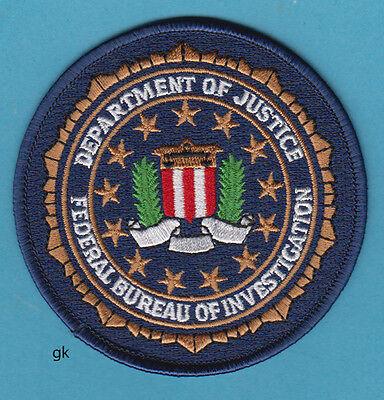 "DEPARTMENT OF JUSTICE  FBI SEAL POLICE  SHOULDER PATCH  (3 5/8"")"