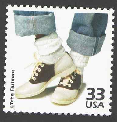 US. 3187 b. 33c. Teen Fashions. Celebrate The Century. MNH. 1999