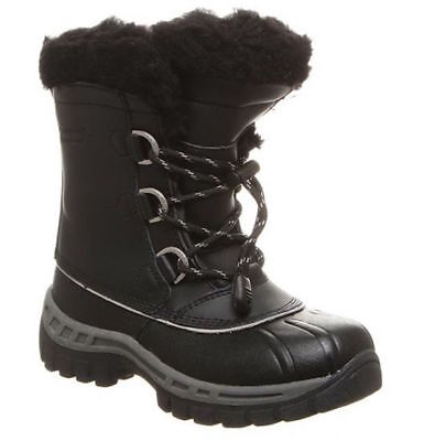 Kids Bearpaw Kelly Black/Grey Waterproof Winter Boots [1871Y]
