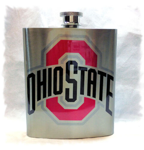 Ohio State University _ Buckeyes 7 ounce Stainless Steel Flask