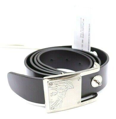 Versace Collection V91201S VM00046 Men's Belt Dark Brown Leather Size 36 90/105